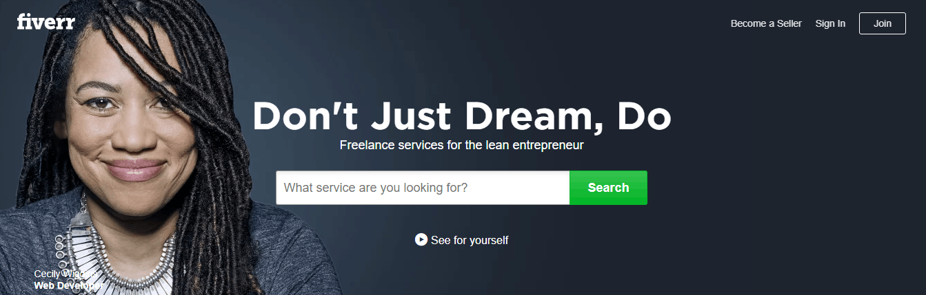 best freelance sites - fiverr