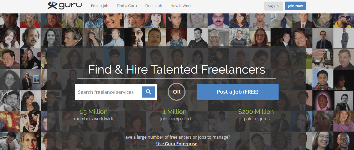 best freelance sites - guru