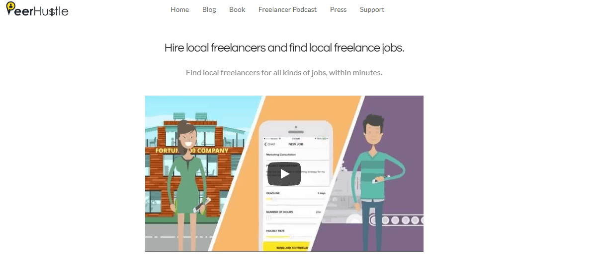 best freelancing sites - peer hustle